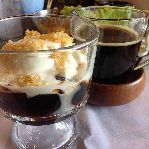 A Japanese version of coffee gelatin.