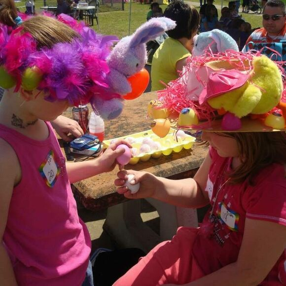 Two participants in the children's event at the Easter on the Red River Festival.