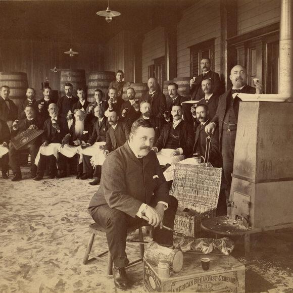 A beefsteak banquet in 1880.