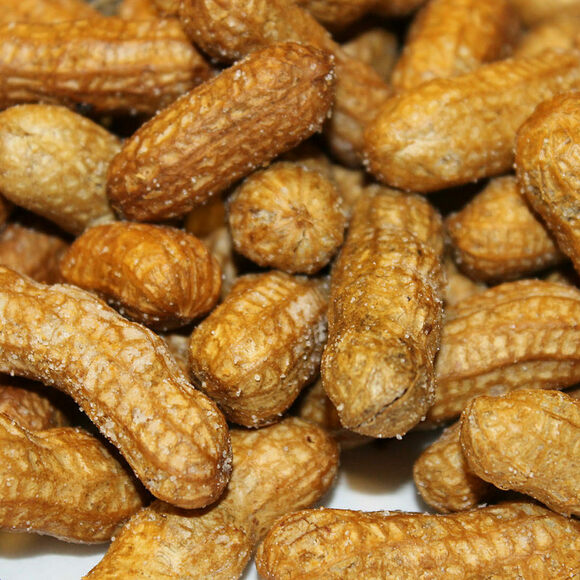 A selection of deep-fried peanuts.