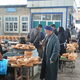 Uzbek non is sold starting early in the morning.