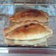Cornish pasty seen in a bakery window in Tavistock, Devon just across the border from Cornwall.