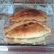 Cornish pasty seen in a bakery window in Tavistock, Devon just across the border from Cornwall.