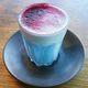 C-Phycocyanin tinting an ombré Blue Majik latte.