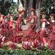 Tiny radish people dancing