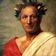 Caesar in his laurel leaf crown.
