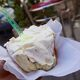 Some versions, like this one from Palermo, come with whipped cream on top of the gelato.