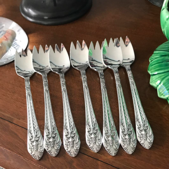 A collector's set of ice cream forks.