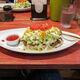 Taco rice, with sauce.