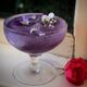 A butterfly pea cocktail.